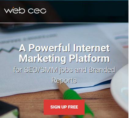 Internet marketing platform for SEO and SEM - Web CEO