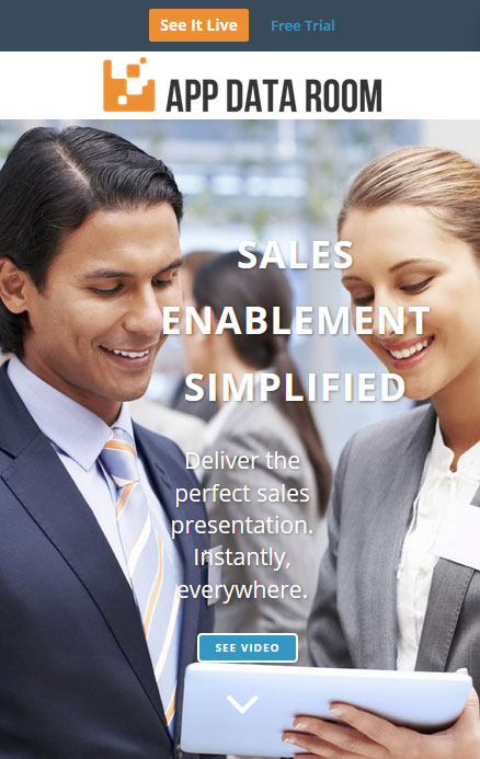 Sales enablement software for presentations - App Data Room
