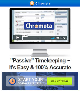 Track your online work time automatically with Chrometa