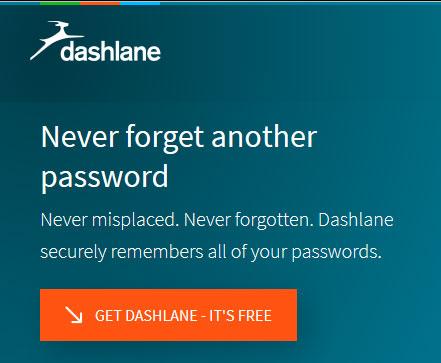 Secure password manager - Dashlane