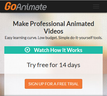 Make professional yet low-cost animated videos with GoAnimate