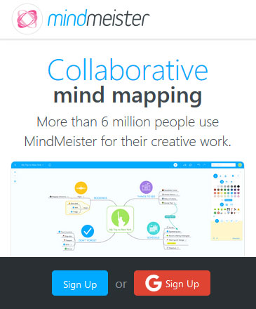 Collaborative mind-mapping software - MindMeister