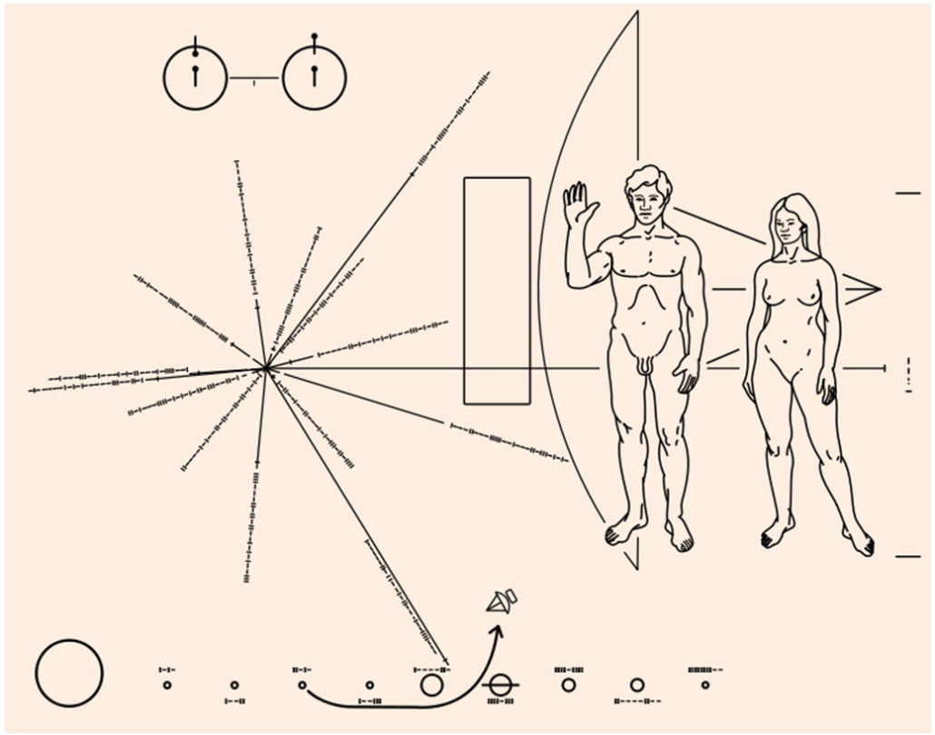 Carl Sagan Pioneer plaque