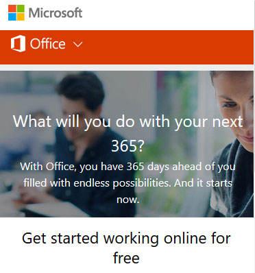Get started with Microsoft Office online for free