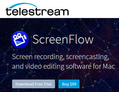Screencasting, screen recording, video editing software for Mac
