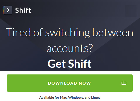 Switch apps without switching tabs - get Shift