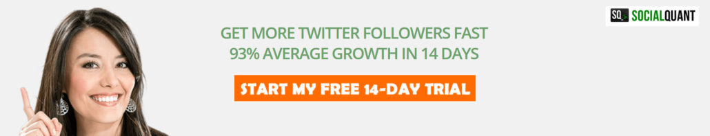 Grow your Twitter followers professionally with Social Quant