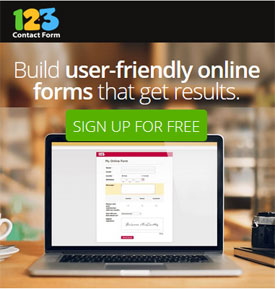 Easily create web forms and surveys with 123ContactForm