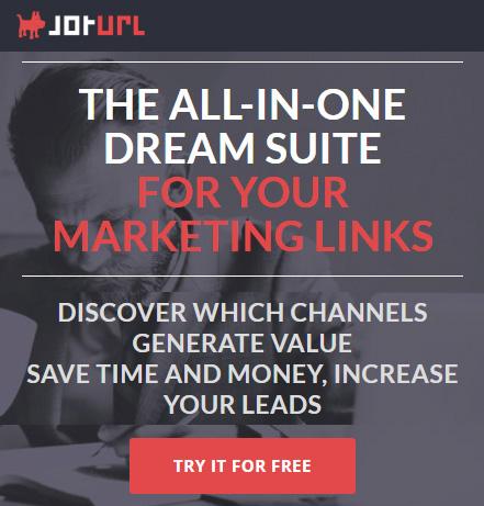 Trackable vanity marketing links for lead generation - JotUrl