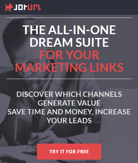 Trackable vanity marketing links for lead generation - JotUrl