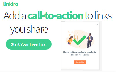 Add custom calls to action to shared links