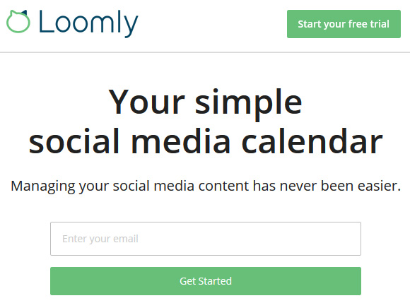 Simple social media calendar - Loomly