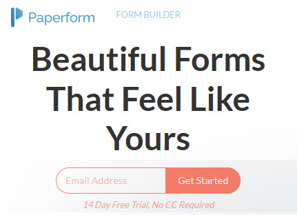 Easily create interactive forms and workflows without coding