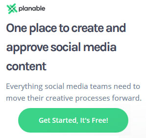 Social media content planning tool for teams