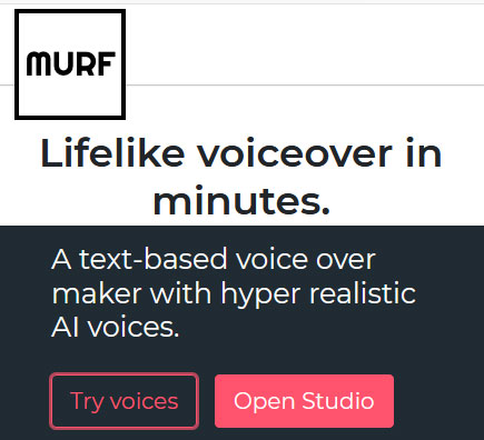 A text-based voice over maker with hyper realistic AI voices.