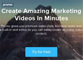 Premium video clips, licensed music and a built-in text editor to create stunning video