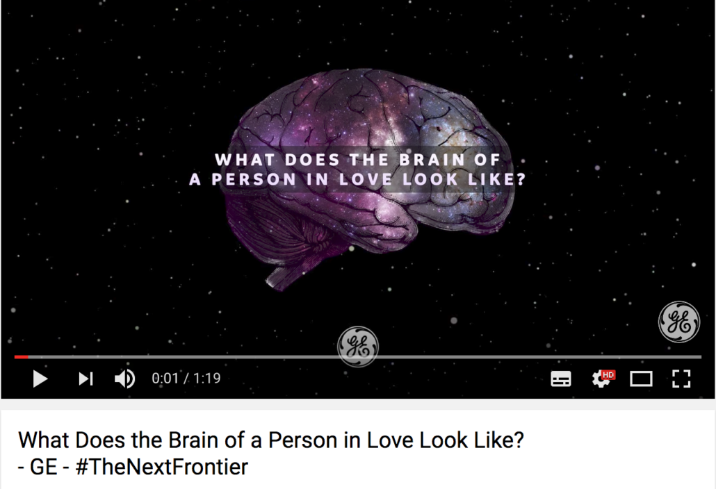 GE Brain of a person in love campaign