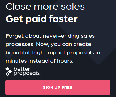 Create high-impact sales proposals in minutes