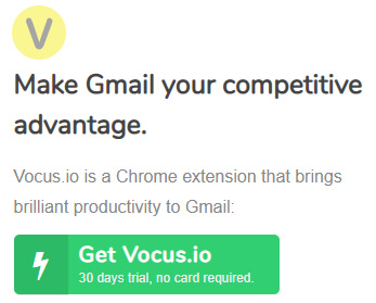 Turn Gmail into an actionable sales tool - Vocus.io