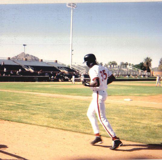 Michael Jordan playing minor league baseball with the Scottsdale Scorpions