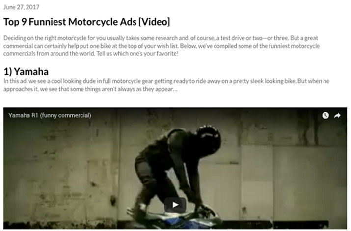 Funniest motorcycle ads