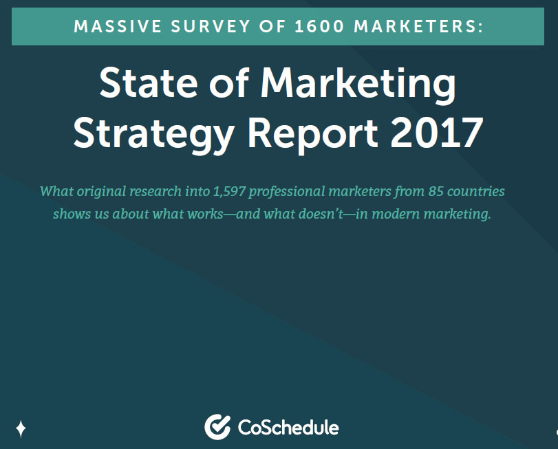 CoSchedule State of Marketing Strategy Report 2017