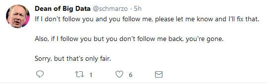 Following back is good Twitter etiquette
