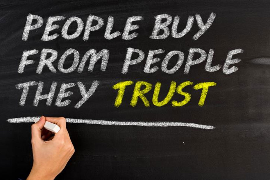 Selling at B2B trade shows - people buy from people they trust