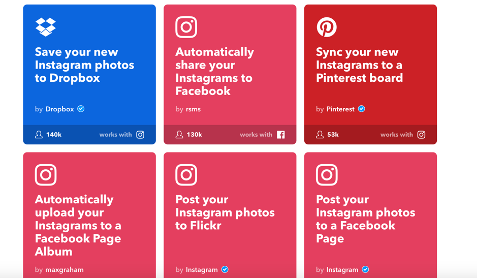 Auto-sharing Instagram photos with IFTTT