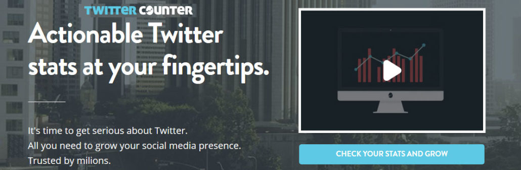 Multi-purpose Twitter management tool - TwitterCounter