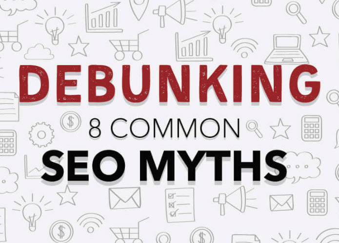Infographic - debunking 8 common SEO myths