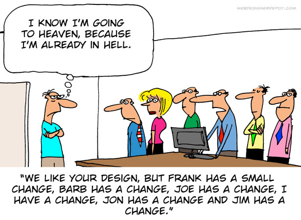 The life of a graphic designer - cartoon