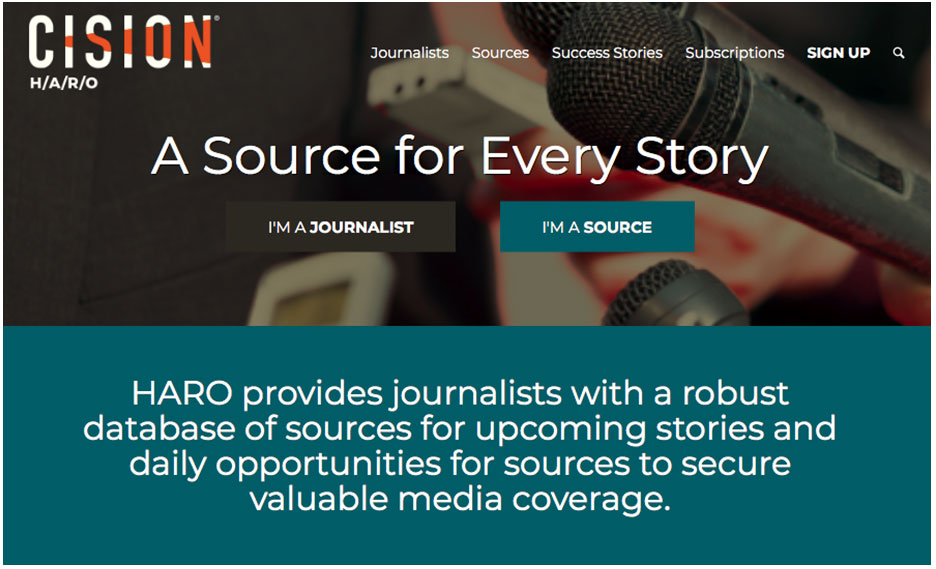 Help a Reporter Out from Cision