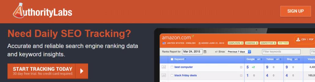 Daily SEO keyword tracking tool