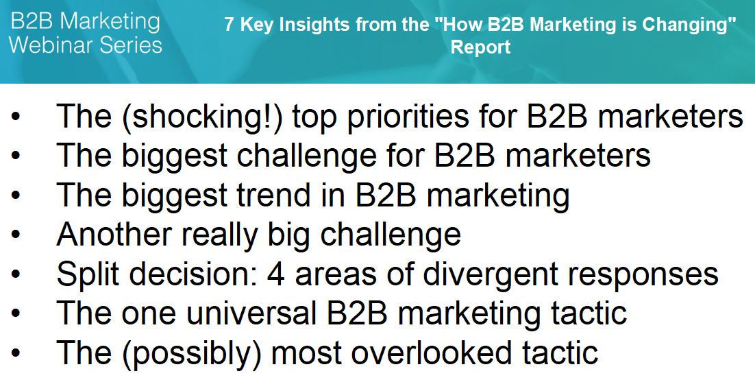 Insights from the How B2B Marketing is Changing report