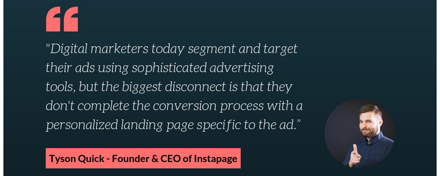 Landing page personalization guidance from Instapage