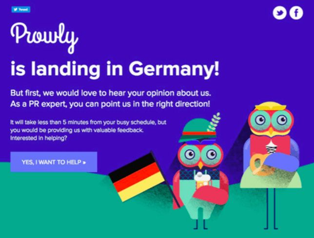 Prowly ad in Germany