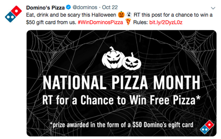 Social engagement - Domino's on Twitter
