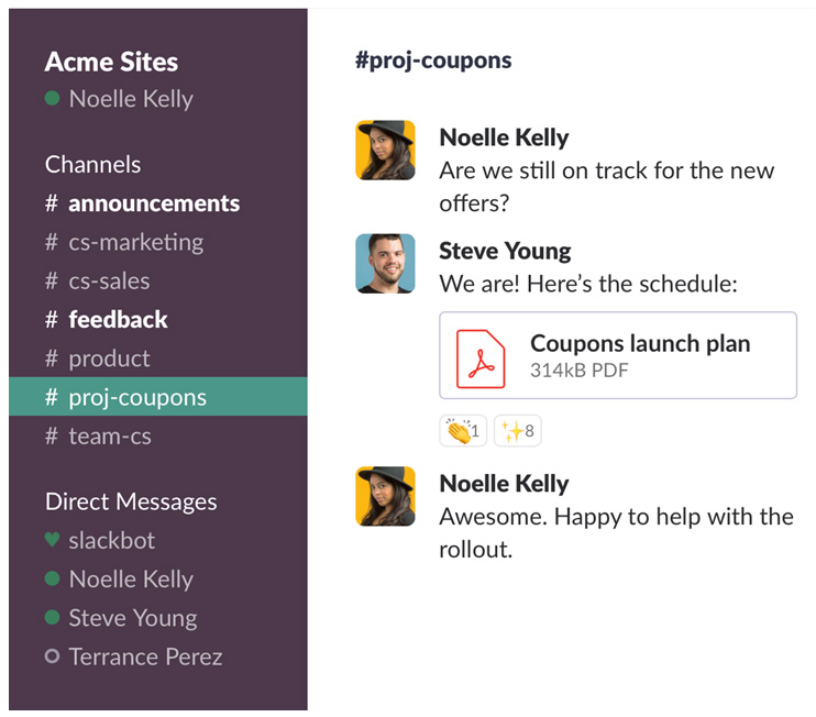 Using Slack for small business employee communication