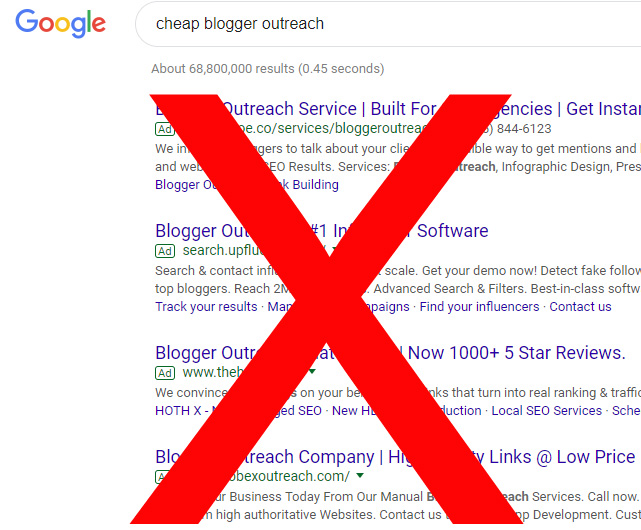 Avoid cheap blogger outreach services at all costs
