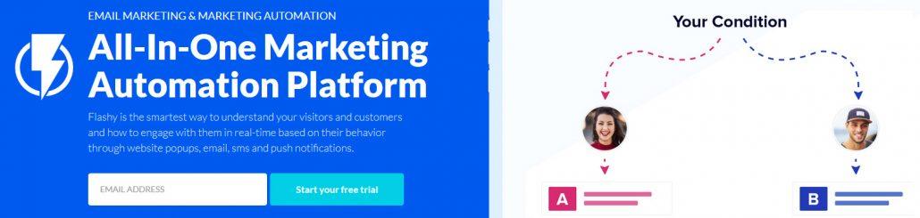 All in one marketing automation platform - Flashy