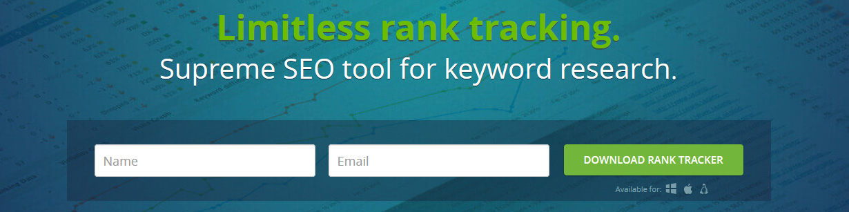 Unlimited rank tracking - SEO keyword research tool