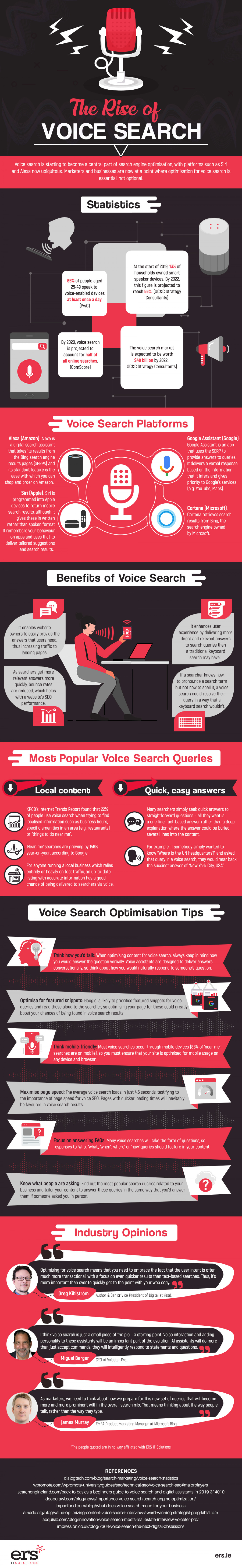 The Rise of Voice Search - infographic