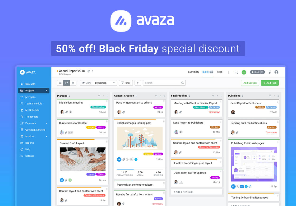 Avaza - Projects, Timesheets, Invoices for Teams