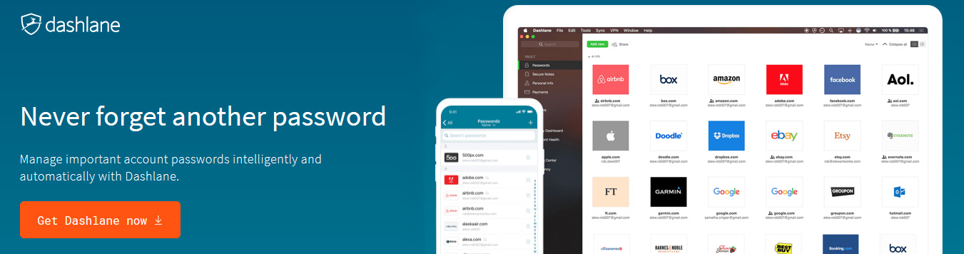 Protect and manage all your passwords from one place