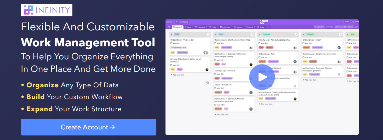 Flexible And Customizable Work Management Tool To Help You Organize Everything
