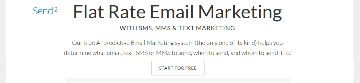 Powerful flat-rate email and text marketing powered by AI