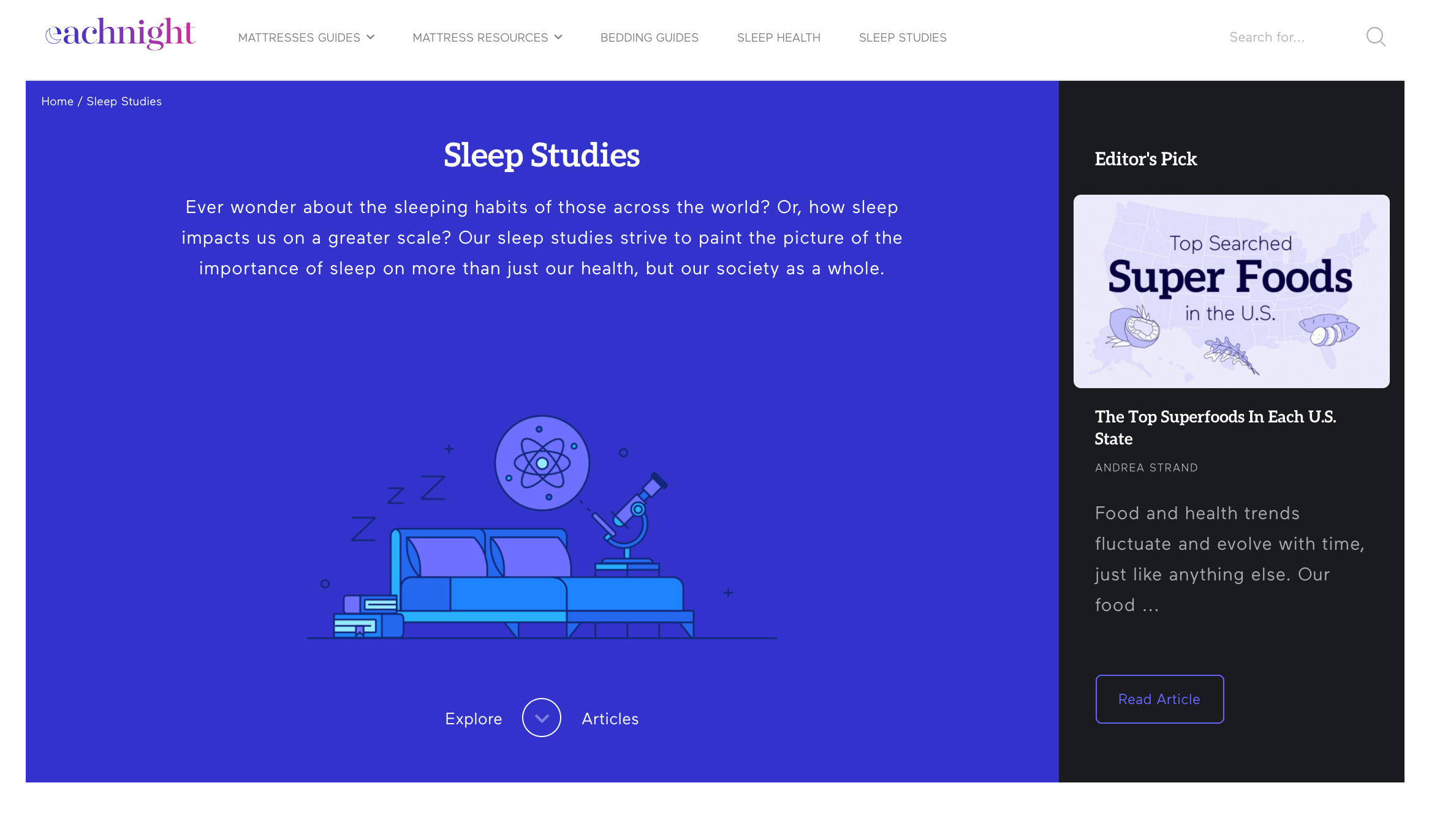 How Each Night uses content marketing to answer common questions about sleep
