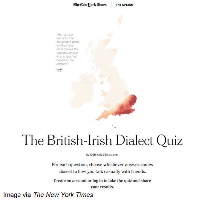 The New York Times British-Irish Dialect Quiz