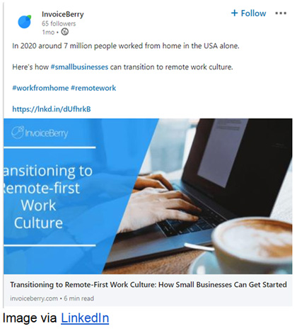 InvoiceBerry wrote an ebook to help small companies adapt to the remote work culture.